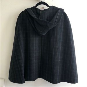 Forever 21 Jackets & Coats - Forever 21 Hooded Plaid Cape